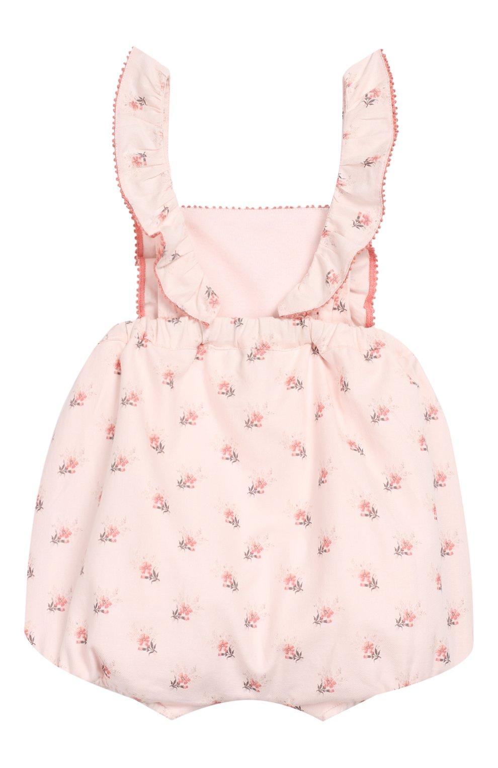 Детский хлопковый комбинезон TARTINE ET CHOCOLAT светло-розового цвета, арт. TP33001/18M-3A | Фото 2