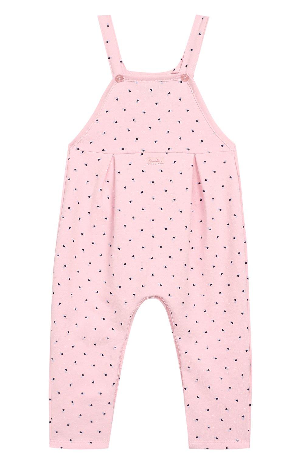 Детский хлопковый комбинезон SANETTA FIFTYSEVEN розового цвета, арт. 906687 | Фото 1