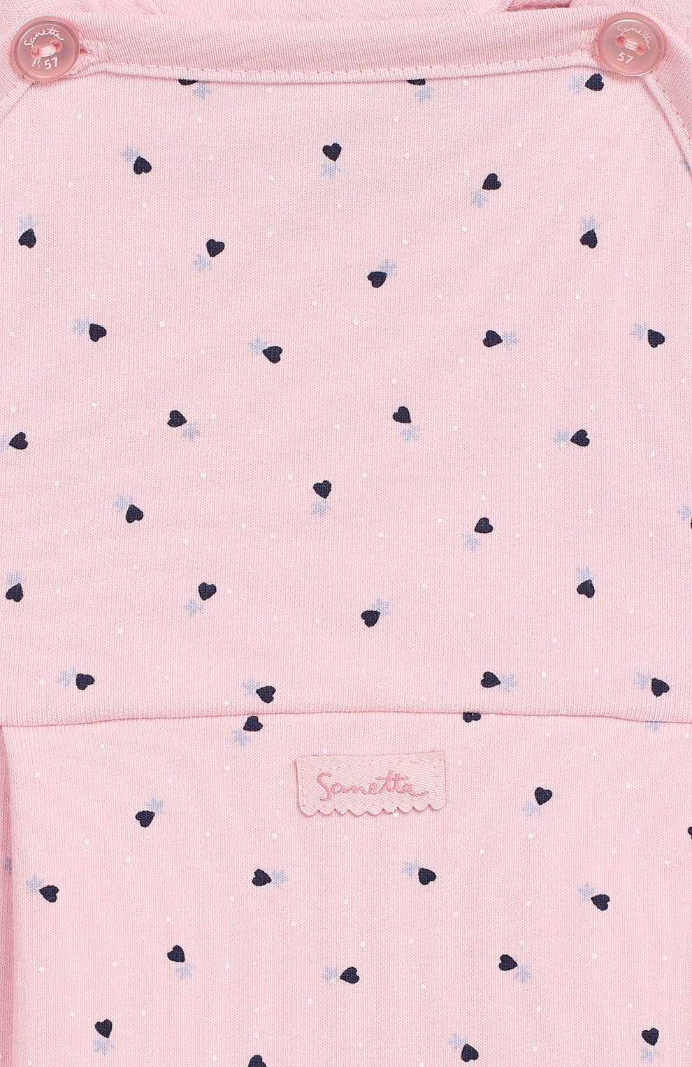 Детский хлопковый комбинезон SANETTA FIFTYSEVEN розового цвета, арт. 906687 | Фото 3