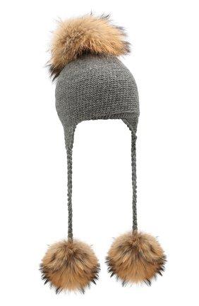 Детского шерстяная шапка CASILDA Y JIMENA серого цвета, арт. 755173018 | Фото 1