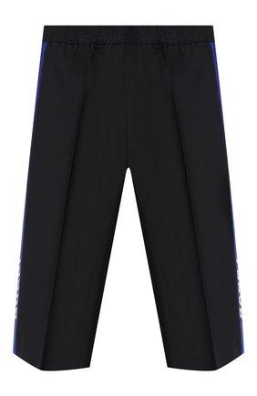 Детские шерстяные брюки GUCCI синего цвета, арт. 586239/XWAEV | Фото 1