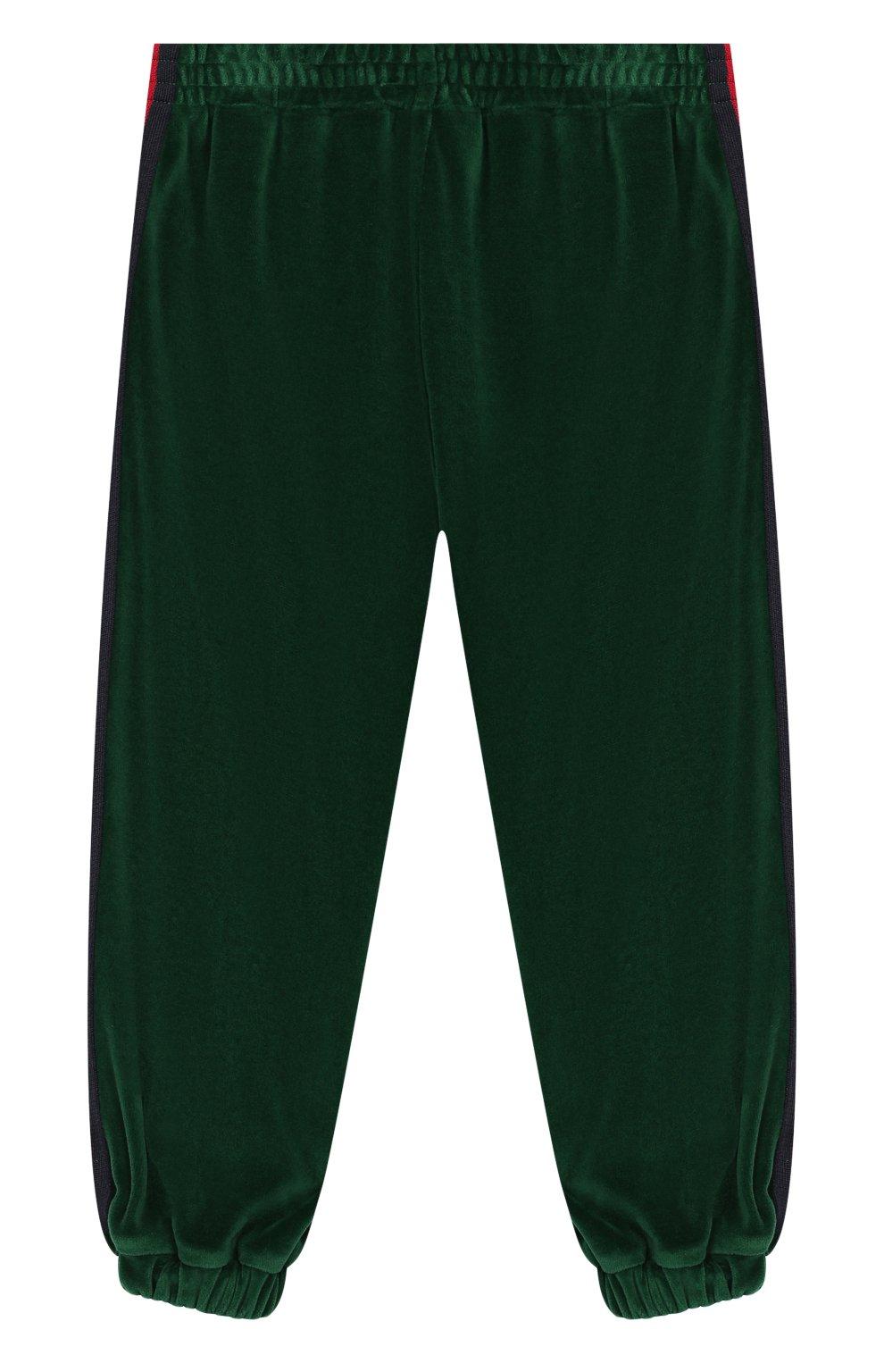 Детские брюки GUCCI зеленого цвета, арт. 579536/XJBFF | Фото 1