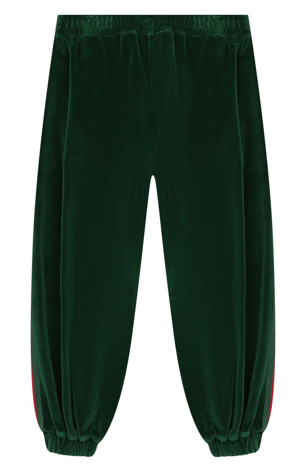 Детские брюки GUCCI зеленого цвета, арт. 579536/XJBFF | Фото 2