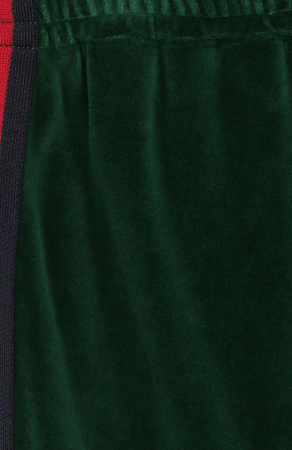 Детские брюки GUCCI зеленого цвета, арт. 579536/XJBFF | Фото 3