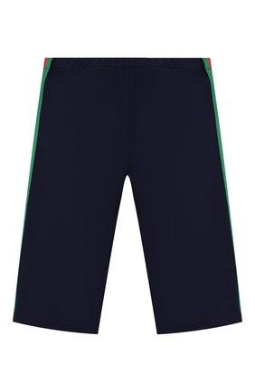 Детские брюки из вискозы GUCCI синего цвета, арт. 578064/XJBEC | Фото 2