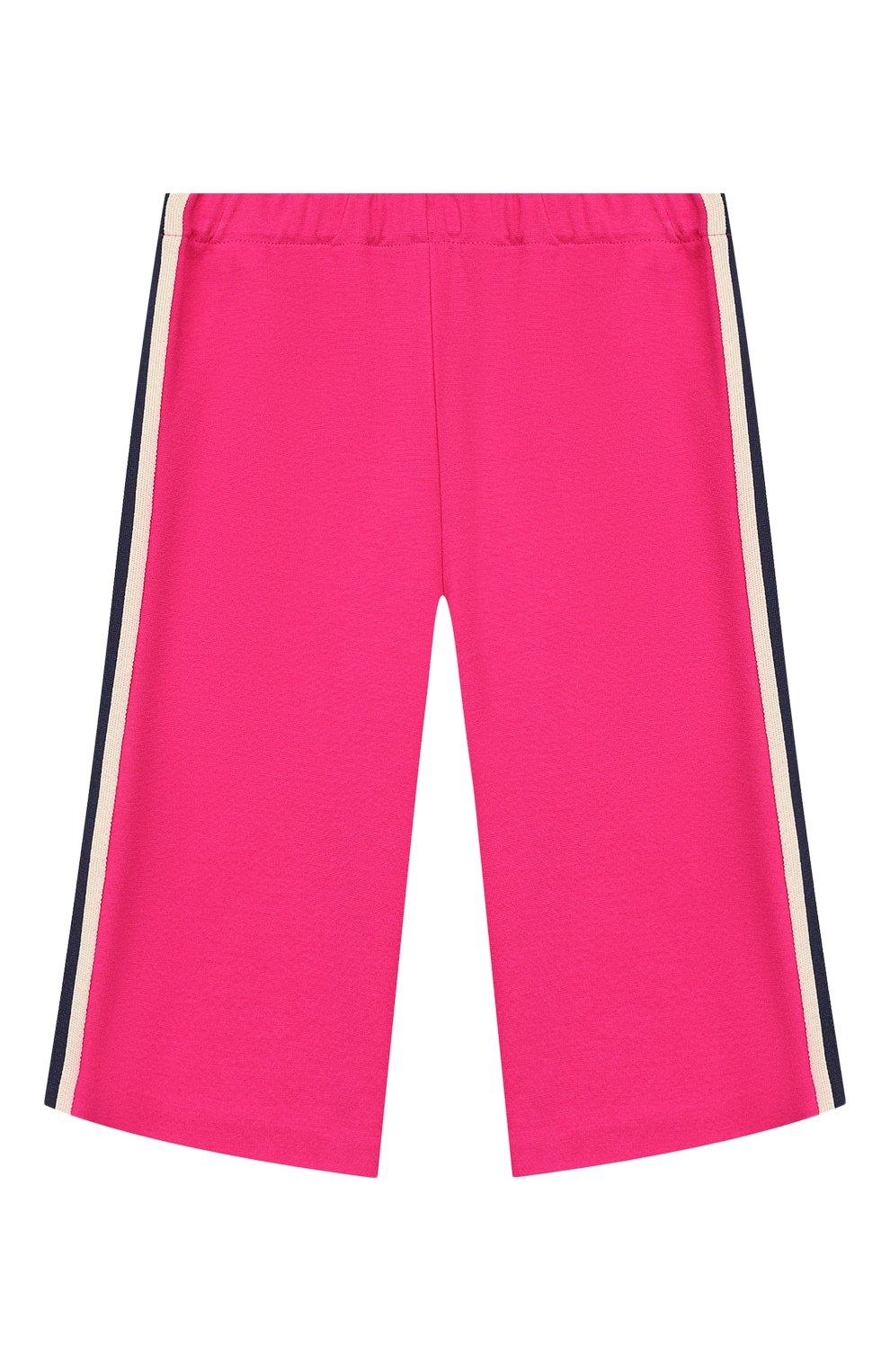 Детские брюки из вискозы GUCCI фуксия цвета, арт. 578064/XJBEC   Фото 1