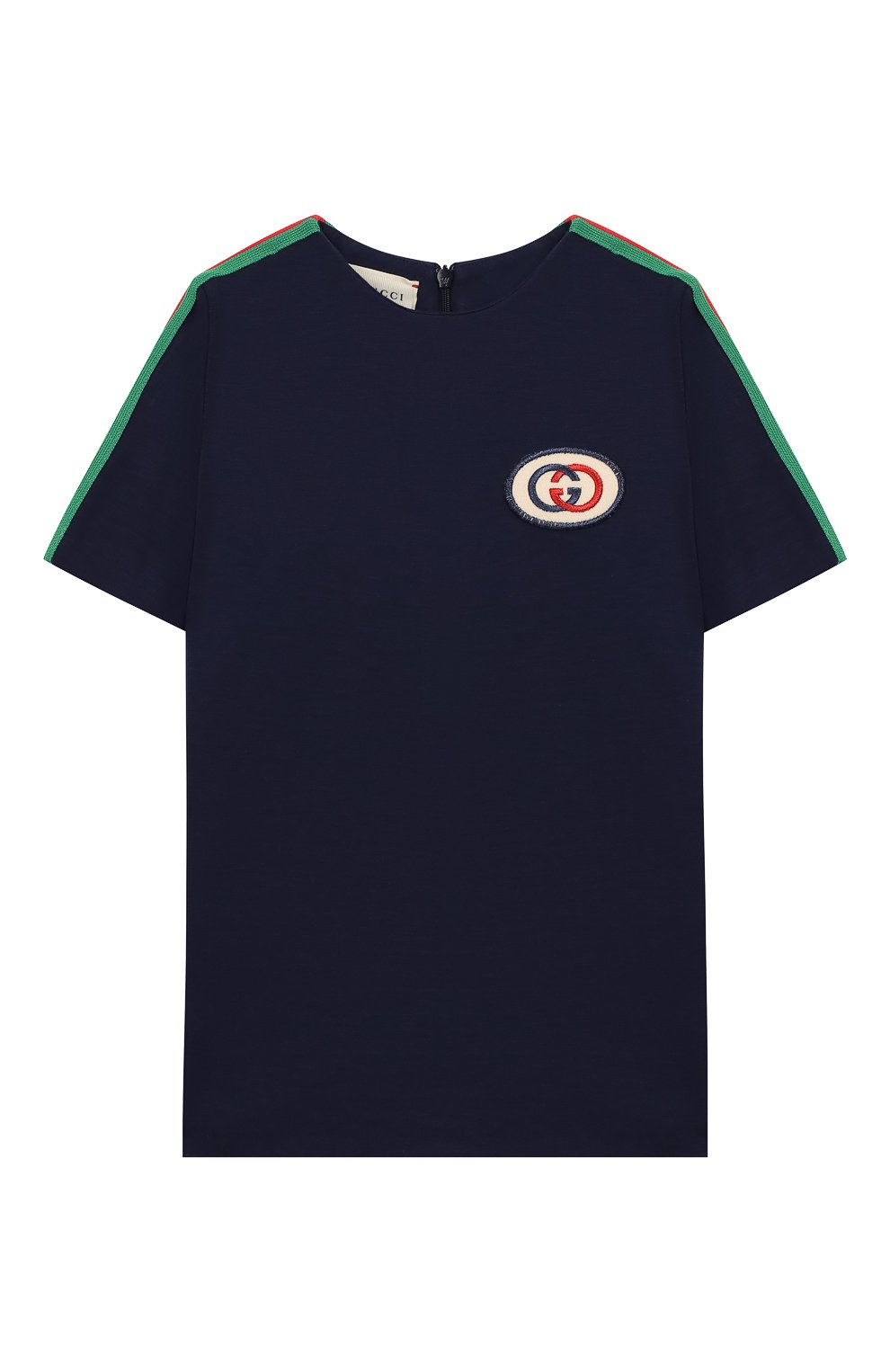 Детский футболка из вискозы GUCCI синего цвета, арт. 578063/XJBEB | Фото 1