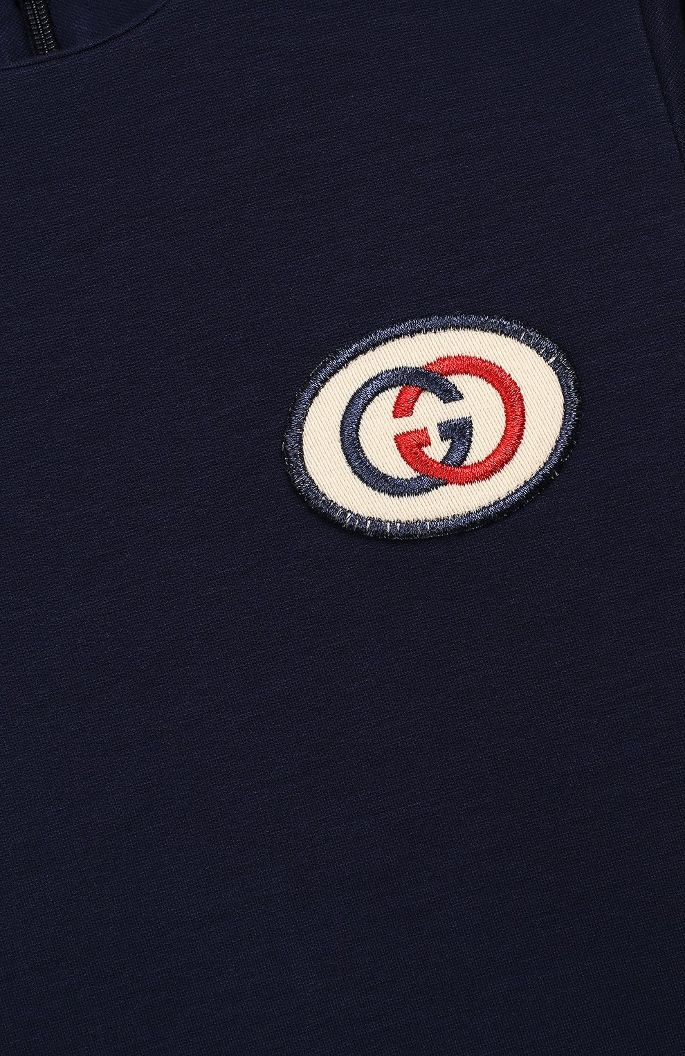 Детский футболка из вискозы GUCCI синего цвета, арт. 578063/XJBEB | Фото 3