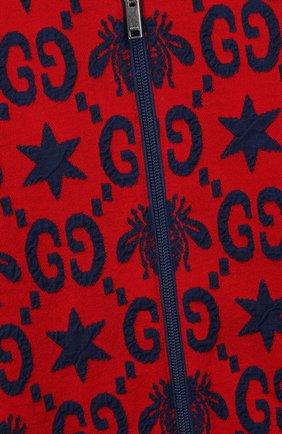 Детский кардиган GUCCI красного цвета, арт. 575040/XJA98   Фото 3