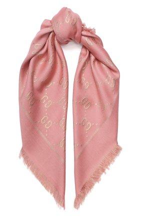Детский платок GUCCI кораллового цвета, арт. 574742/4K721 | Фото 1