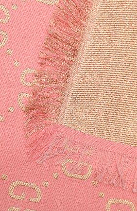 Детский платок GUCCI кораллового цвета, арт. 574742/4K721 | Фото 2