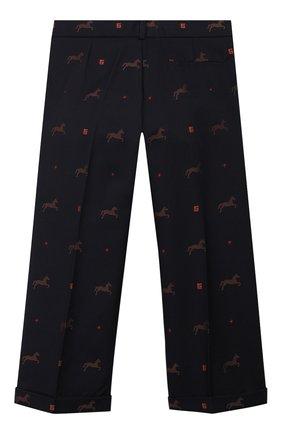 Детские хлопковые брюки GUCCI темно-синего цвета, арт. 569473/XWAE0 | Фото 2
