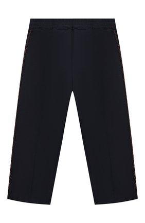 Детские хлопковые брюки GUCCI синего цвета, арт. 564594/XWAEY | Фото 1