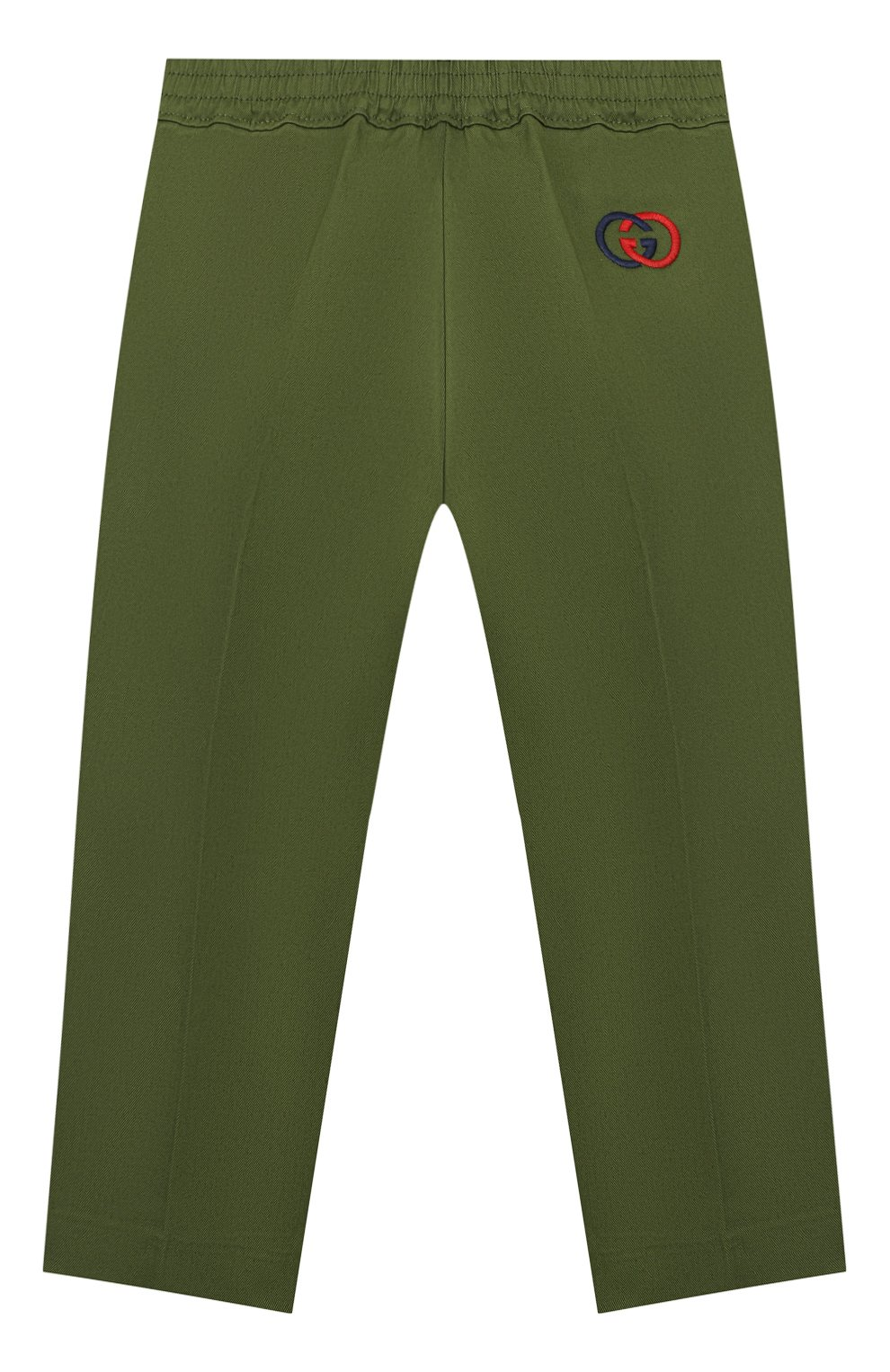 Детские хлопковые брюки GUCCI хаки цвета, арт. 564594/XWAEY | Фото 2