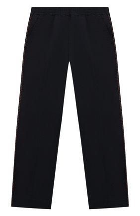 Детские хлопковые брюки GUCCI синего цвета, арт. 564593/XWAEY | Фото 1