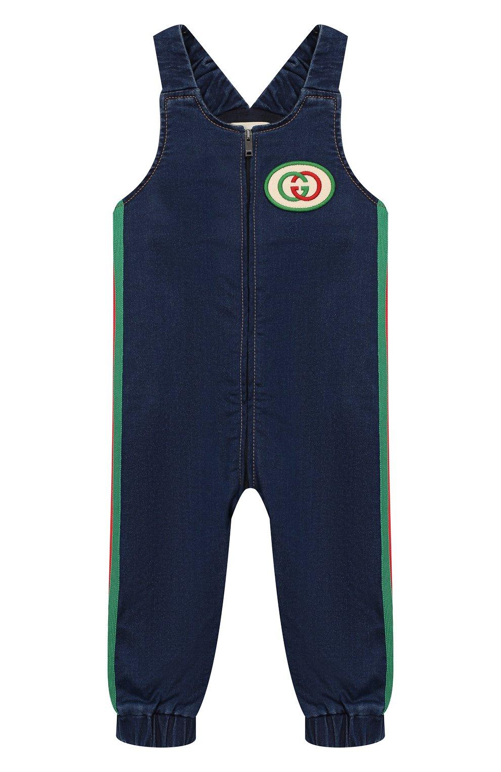 Детский джинсовый комбинезон GUCCI синего цвета, арт. 512218/XJA63 | Фото 1