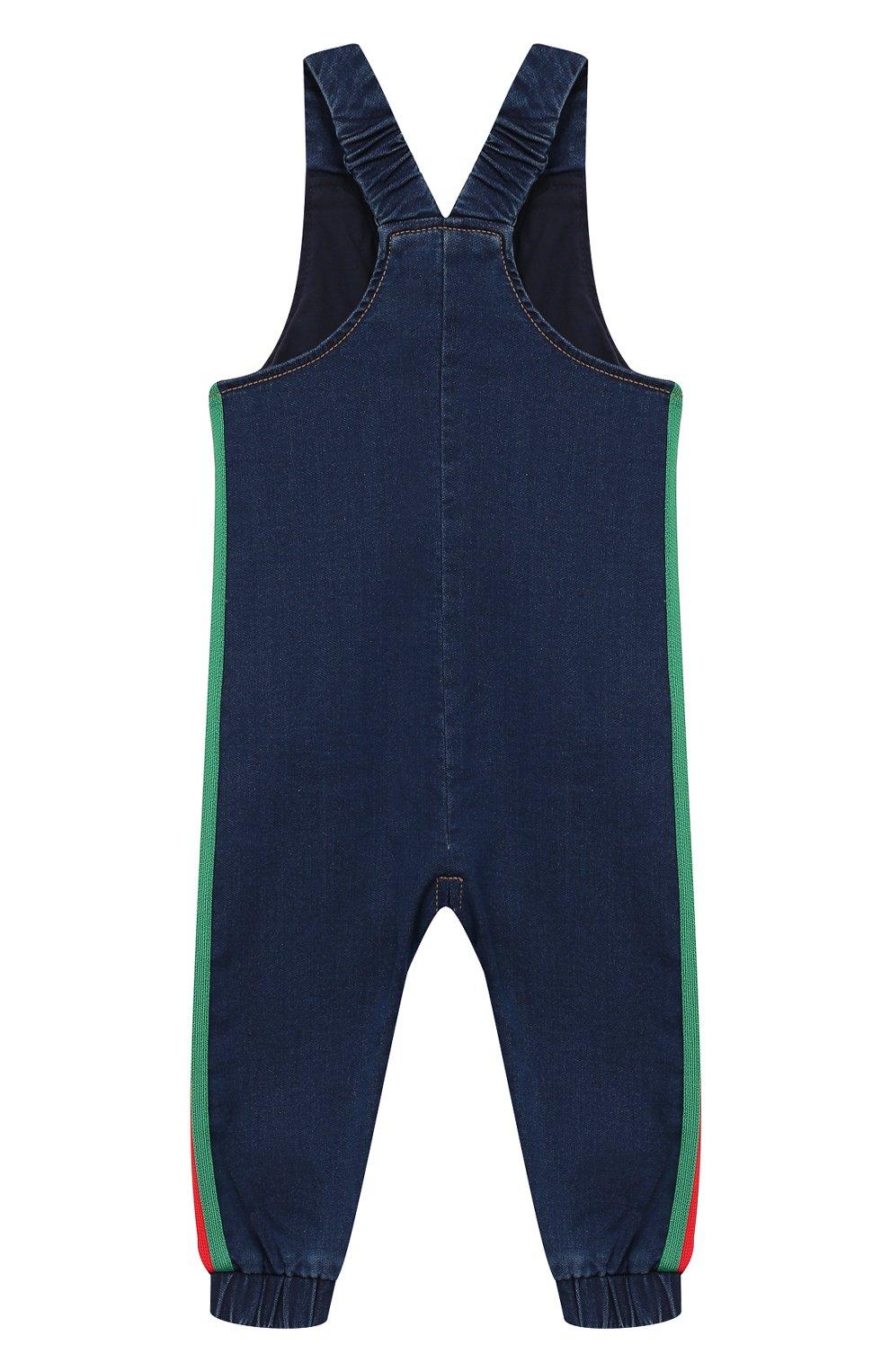 Детский джинсовый комбинезон GUCCI синего цвета, арт. 512218/XJA63 | Фото 2