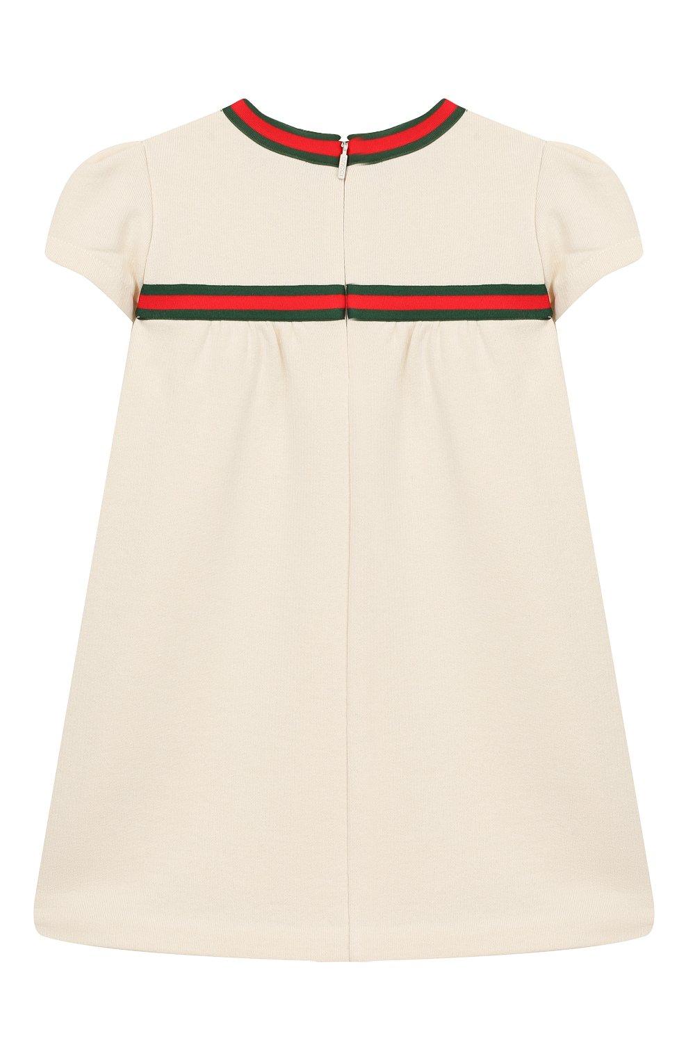 Женский хлопковое платье GUCCI белого цвета, арт. 478384/X9A79 | Фото 2