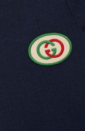 Женская платье GUCCI синего цвета, арт. 478120/XJA66   Фото 3