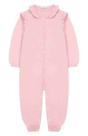 Детский кашемировый комбинезон BABY T светло-розового цвета, арт. 19AIC871T/1M-12M | Фото 1