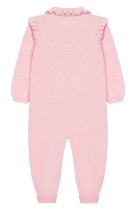 Детский кашемировый комбинезон BABY T светло-розового цвета, арт. 19AIC871T/1M-12M | Фото 2
