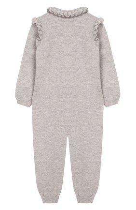 Детский кашемировый комбинезон BABY T серого цвета, арт. 19AIC871T/1M-12M | Фото 2