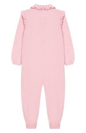 Детский кашемировый комбинезон BABY T светло-розового цвета, арт. 19AIC871T/18M-2A | Фото 2
