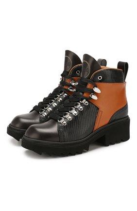 Женские кожаные ботинки bella CHLOÉ коричневого цвета, арт. CHC19W245G3 | Фото 1