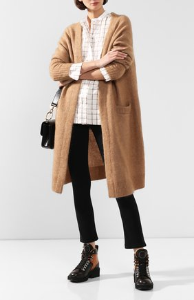 Женские кожаные ботинки bella CHLOÉ коричневого цвета, арт. CHC19W245G3 | Фото 2