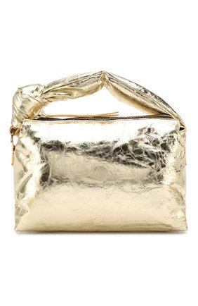 Женская сумка DRIES VAN NOTEN золотого цвета, арт. 192-11513-243 | Фото 1