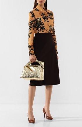 Женская сумка DRIES VAN NOTEN золотого цвета, арт. 192-11513-243 | Фото 2