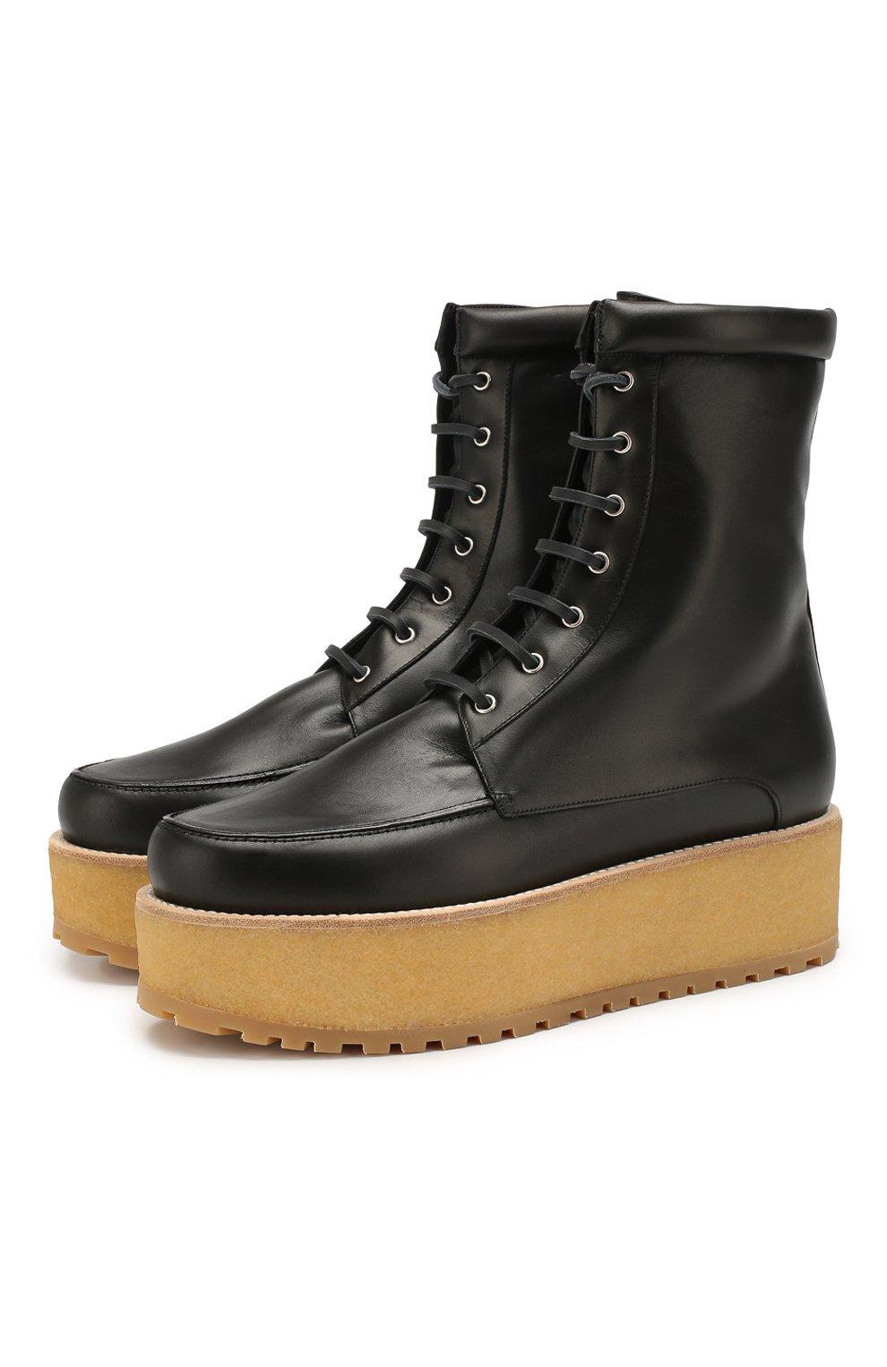 Женские кожаные ботинки GABRIELA HEARST черного цвета, арт. 1198010A SC001   Фото 1
