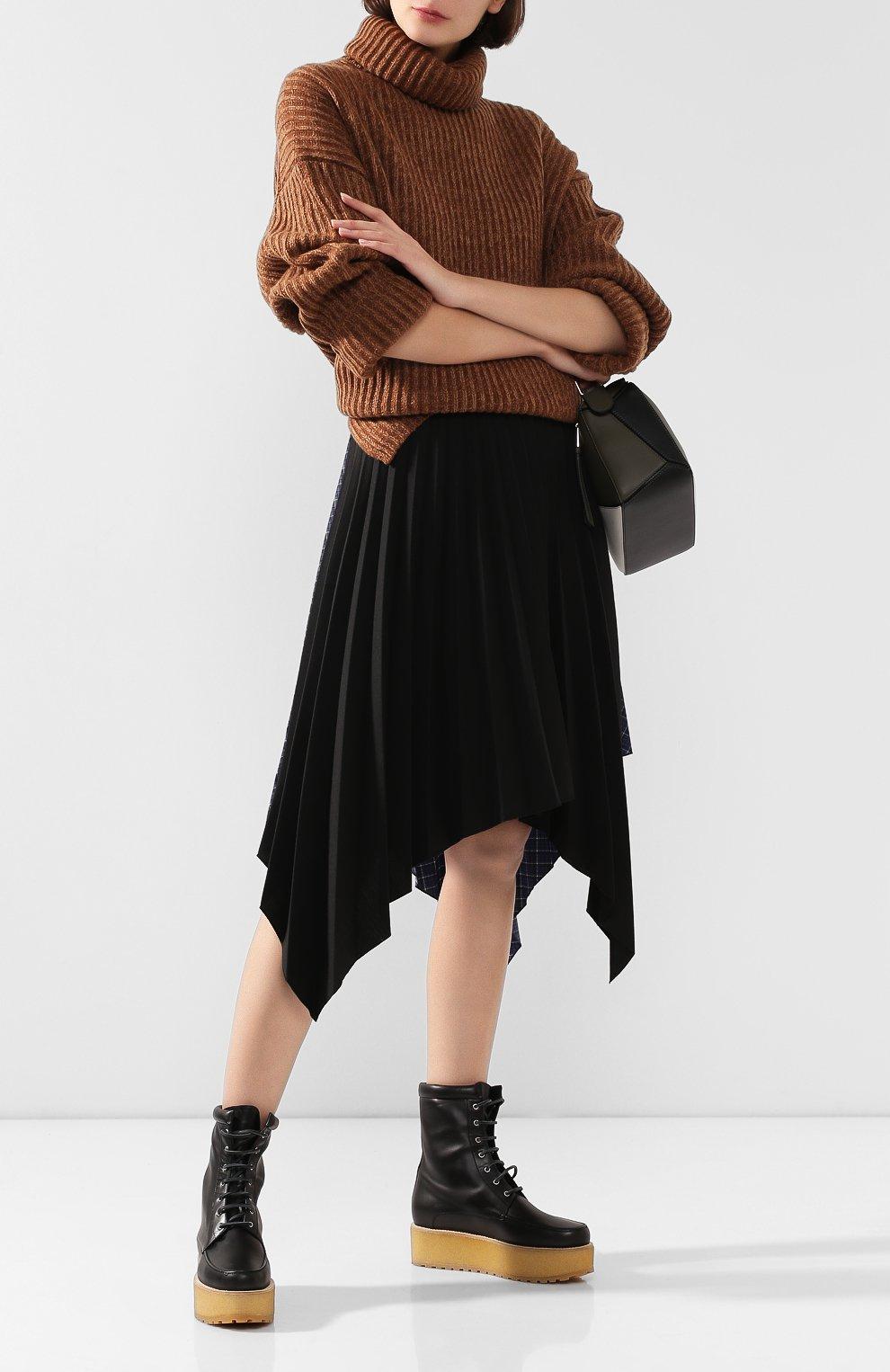 Женские кожаные ботинки GABRIELA HEARST черного цвета, арт. 1198010A SC001   Фото 2