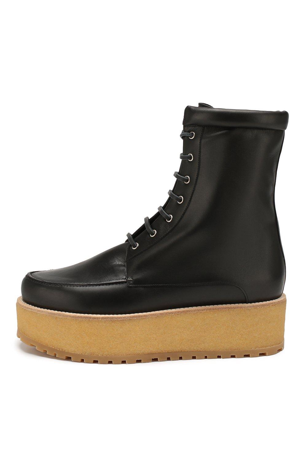 Женские кожаные ботинки GABRIELA HEARST черного цвета, арт. 1198010A SC001   Фото 3