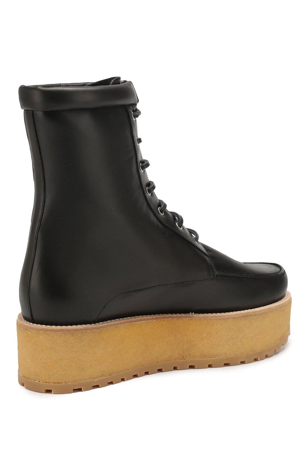Женские кожаные ботинки GABRIELA HEARST черного цвета, арт. 1198010A SC001   Фото 4