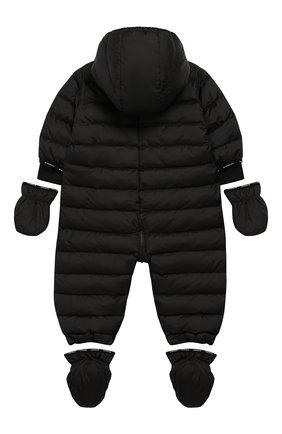 Детский утепленный комбинезон GIVENCHY черного цвета, арт. H96014 | Фото 2