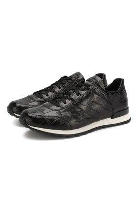 Кроссовки из кожи крокодила | Фото №1