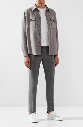 Мужской шерстяные брюки BRIONI серого цвета, арт. RPM10L/0ZA0K/SIDNEY | Фото 2