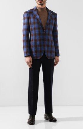 Мужской пиджак из смеси шерсти и кашемира L.B.M. 1911 синего цвета, арт. 2403/92078 | Фото 2