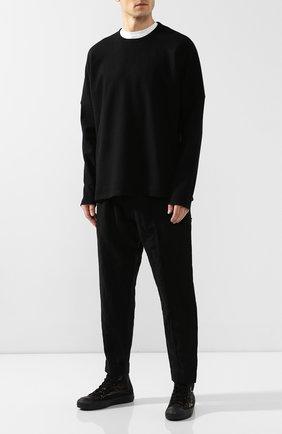 Мужские текстильные кеды YOHJI YAMAMOTO черного цвета, арт. HC-E10-062 | Фото 2