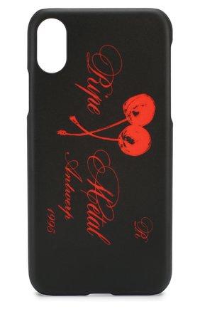 Мужской чехол для iphone x RAF SIMONS красного цвета, арт. 192-942-45010 | Фото 1