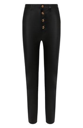 Женские кожаные брюки SPRWMN черного цвета, арт. 5PK-005-L/5 PKT B0TT0N FLY ANKLE | Фото 1