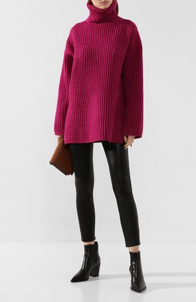 Женские кожаные брюки SPRWMN черного цвета, арт. 5PK-005-L/5 PKT B0TT0N FLY ANKLE | Фото 2