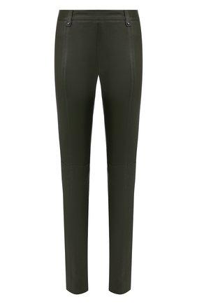 Женские кожаные брюки TOM FORD хаки цвета, арт. PAL683-LEX224 | Фото 1