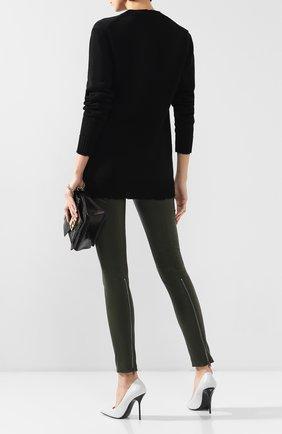 Женские кожаные брюки TOM FORD хаки цвета, арт. PAL683-LEX224 | Фото 2