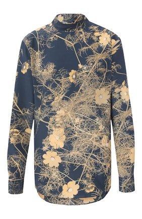 Женская шелковая блузка DRIES VAN NOTEN серого цвета, арт. 192-10759-8201 | Фото 1