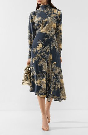 Женская шелковая блузка DRIES VAN NOTEN серого цвета, арт. 192-10759-8201 | Фото 2