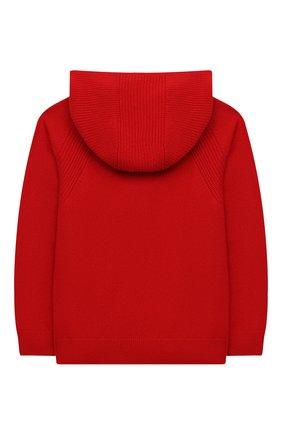 Детский кашемировый кардиган LORO PIANA красного цвета, арт. FAG4729 | Фото 2