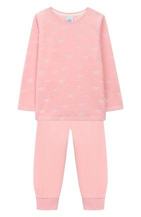 Детская пижама SANETTA розового цвета, арт. 232345 | Фото 1