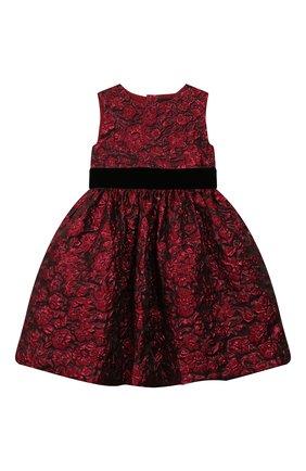 Детское платье OSCAR DE LA RENTA красного цвета, арт. 19FGN606FD | Фото 1